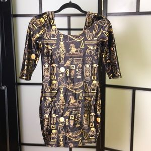 Blackmilk Clothing Egyptian Bodycon Dress